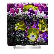 Flower Like Purple And Yellow Shower Curtain