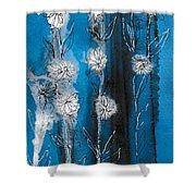 Flower Lineup Shower Curtain