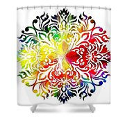 Flower Mandala 3 Shower Curtain