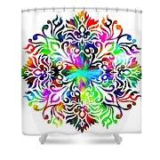 Flower Mandala 4 Shower Curtain