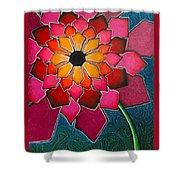 Flower Mandala-a Shower Curtain