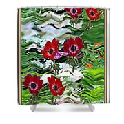 Flower Mania Anemone Fantasy Wave Design Created Of Garden Colors Unique Elegant Decorations Shower Curtain