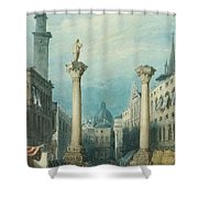 flower market in Vicenza Shower Curtain