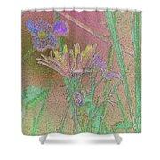 Flower Meadow Line Shower Curtain