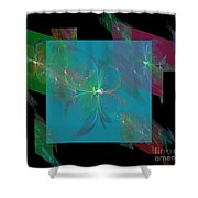 Flower Mirrors Shower Curtain