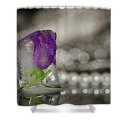 Flower Of Ice Shower Curtain