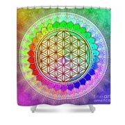 Flower Of Live - Rainbow Lotus 2 Shower Curtain