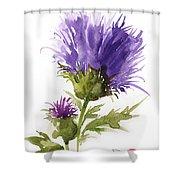 Flower Painting 1 Shower Curtain