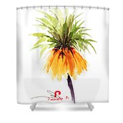Flower Painting 2 Shower Curtain