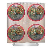 Flower Photo Globes Shower Curtain