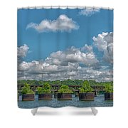 Flower Pots2 Shower Curtain