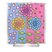 Flower Power 2 Shower Curtain
