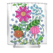 Flower Power 3 Shower Curtain