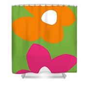 Flower Power 5- Art By Linda Woods Shower Curtain