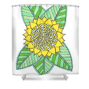 Flower Power 6 Shower Curtain