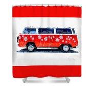Flower Power Van Shower Curtain