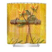 Flower Pull Shower Curtain