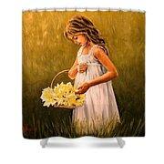 Flower S Basket Shower Curtain