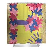 Flower Scene Shower Curtain