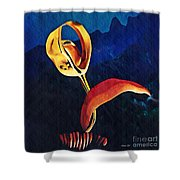 Flower Sculpture Shower Curtain