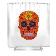Flower Skull 1 Shower Curtain