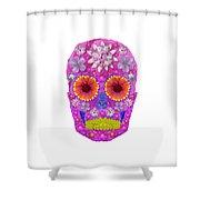 Flower Skull 2 Shower Curtain