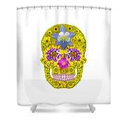 Flower Skull 3 Shower Curtain