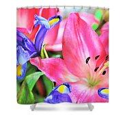 Flower Soft  Shower Curtain