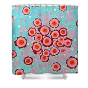 Flower Spreading  Shower Curtain