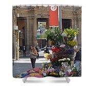 Flower Stand In Milan Shower Curtain