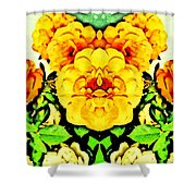 Flower Teddy Shower Curtain
