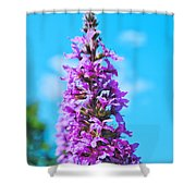 Flower Tower Shower Curtain