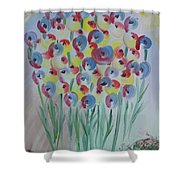 Flower Twists Shower Curtain