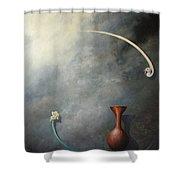 Flower, Vase And Bird 2 Shower Curtain