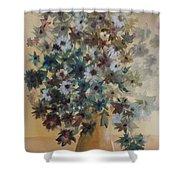 Flower Vase Original Watercolor Shower Curtain