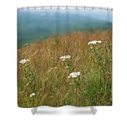 Flower View Of Mountains Shower Curtain