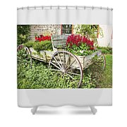 Flower Wagon Shower Curtain