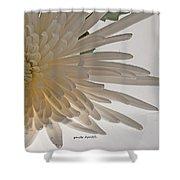 Flower-white Shower Curtain