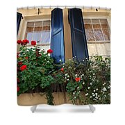 Flower Window In Charleston Sc Shower Curtain