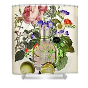 Flowerbomb Notes 3 - By Diana Van  Shower Curtain