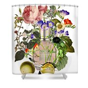 Flowerbomb Notes - By Diana Van Shower Curtain