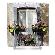Flowered Window Shower Curtain