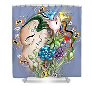 Flowerhead Shower Curtain