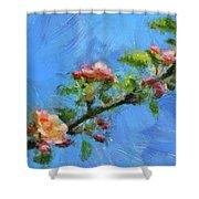 Flowering Apple Branch Shower Curtain