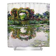 Flowering Arches, Giverny Shower Curtain