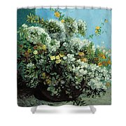 Flowering Branches And Flowers Shower Curtain