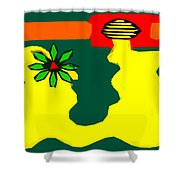 Flowering Melody 2 Shower Curtain