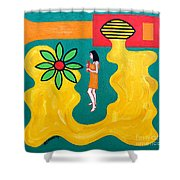 Flowering Melody Shower Curtain