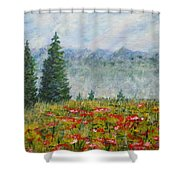 Flowering Mountain Meadow Shower Curtain