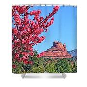 Flowering Tree - Sedona Red Rock Shower Curtain